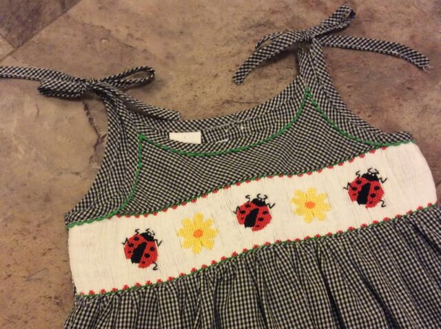 Boutique Ladybug Smocked Sundress In Perfect Condition- Sz 2T- Worn Once