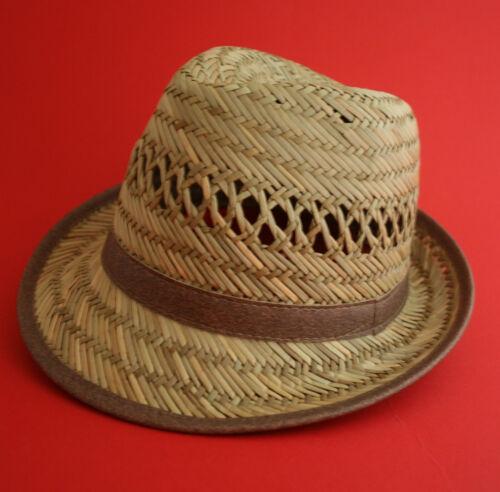 Small-Large-dispo Da Uomo Cappello di Paglia con fascia /& Leather tubazioni 3 Taglie £ 7.49