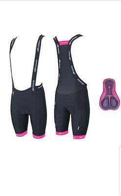 Cheapest Price Superior Materials Sporting Goods Painstaking Force B45 Ladies Bibshorts With Pad Black-pink S Brand New