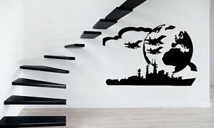Flying-Jet-Airplane-Airforce-Mural-Wall-Art-Decor-Vinyl-Sticker-z429