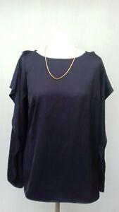 NEXT Blue Summer Cardigan with Stretch BNWT 10 Ruffled Sleeve Trims Size 8