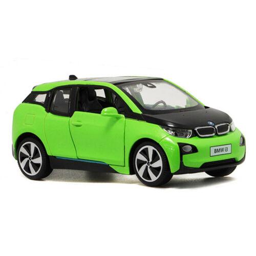 1//32 BMW i3 Electric Die Cast Modellauto Auto Spielzeug Model Sammlung Grün