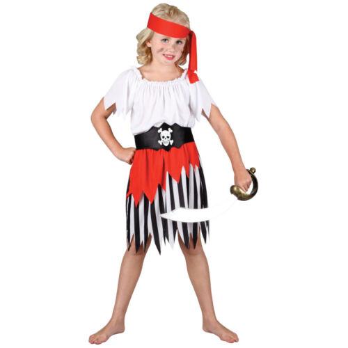 Hochsee Piraten Prinzessin Kostüm Karibik Büchertag Mädchen Neu
