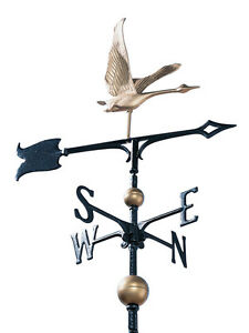 Canadian-Goose-Weathervane-2-5-ft-tall-with-free-MOUNT-Geese-wildlife-wind-vane