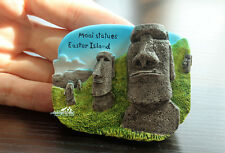 Moai Statues Easter Island, Chile Reiseandenken Souvenir 3D Kühlschrank Magnet