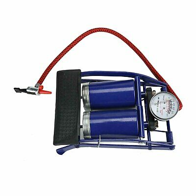 SINGLE CYLINDER FOOT PUMP WITH PRESSURE GAUGE FOR CARS BIKES INFLATABLES