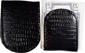 Lot-de-2-Neuf-Lezard-Imprime-Cuir-Argent-Pince-Noir-Unbranded-Pince-avec