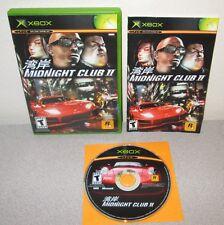 MIDNIGHT CLUB II Microsoft XBOX Rockstar Games Street Racing Complete w/Manual
