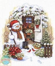 Cross Stitch Kit ~ Dimensions Garden Shed Snowman Cardinal Birds #8817