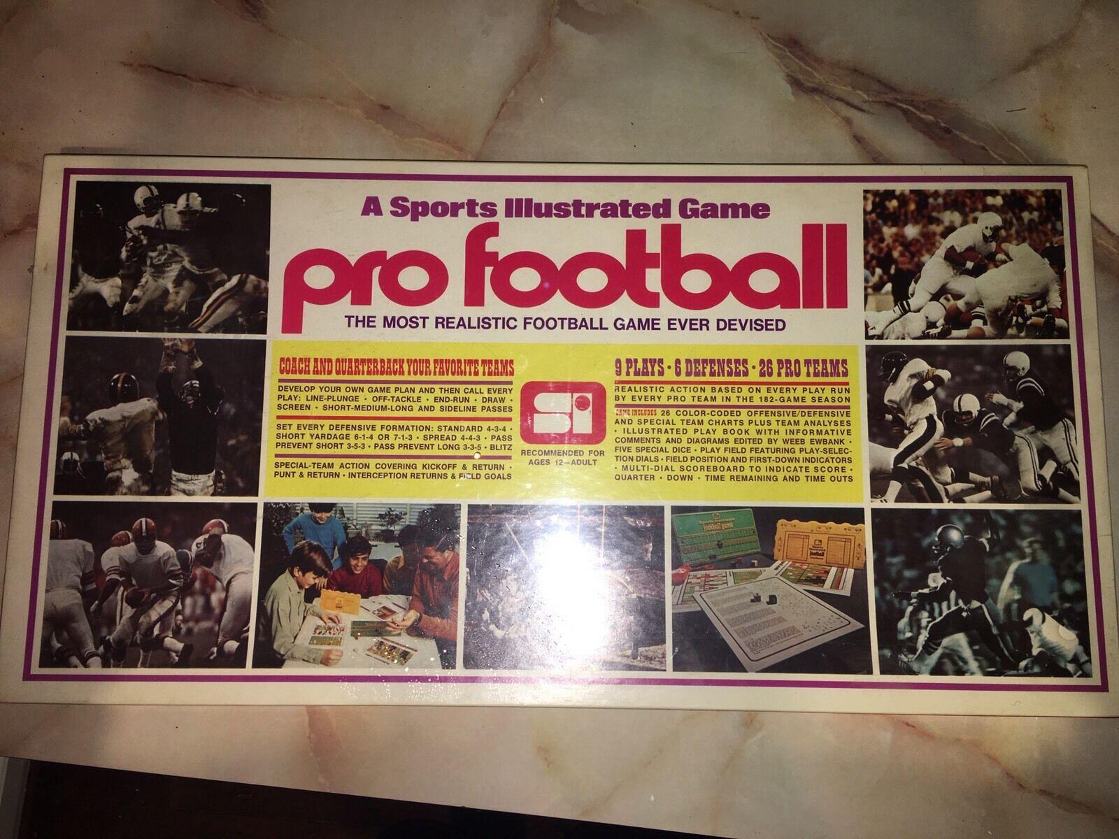 Vtg 1972 Sport Illustrated Pro Football NFL Board Game Factory Sealed