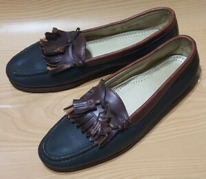 cole haan usa tassel loafers black brown leather casual