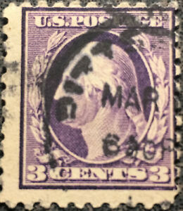 Scott-464-US-1916-3c-Washington-Postage-Stamp-10-Perf-XF