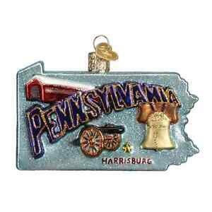 034-State-of-Pennsylvania-034-36181-X-Old-World-Christmas-Glass-Ornament-w-OWC-Box