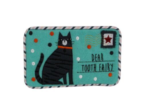 Gisela Graham Cats Design Felt Tooth Fairy Keepsake Envelope 30842