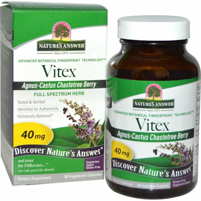 Vitex, Agnus-Castus Chastetree Berry, 90 Vegetarian Capsules