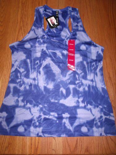 NEW LUKKA LADIES WOMENS PRINTED RACER BACK TANK TOP WATERCOLOR BLUE S M L XL 2XL