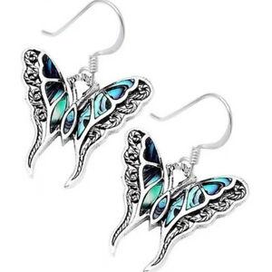 Butterfly-925-Silver-Opal-Gemstone-Ear-Hook-Dangle-Drop-Wedding-Earrings-Women
