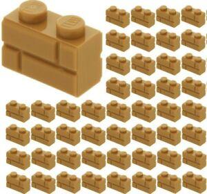 ☀️100x NEW LEGO® 1x2 MEDIUM DARK FLESH Modified Masonry Profile Bricks 98283
