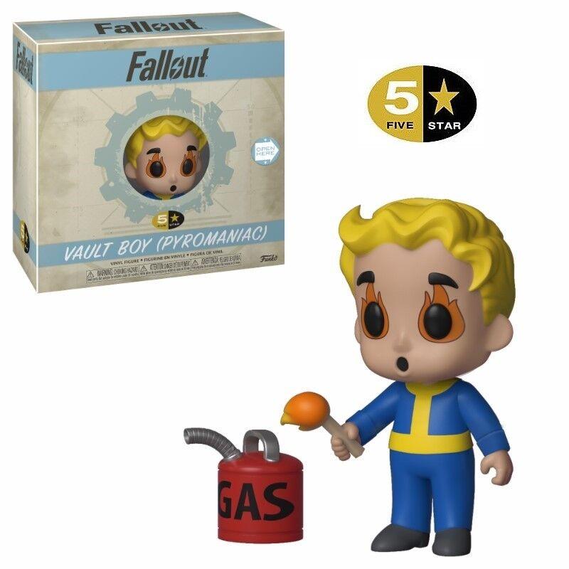 Funko - 5 Star Fallout Figura de Vinilo - Pyromaniac Vault Boy - Nuevo   Caja