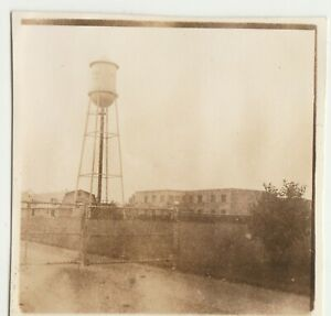 Vintage-Photo-Water-Tower-amp-Town-mid-century-somewhere-in-Quebec-Canada