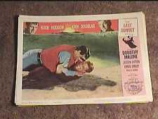 LAST SUNSET 1961 LOBBY CARD #4 WESTERN ROCK HUDSON