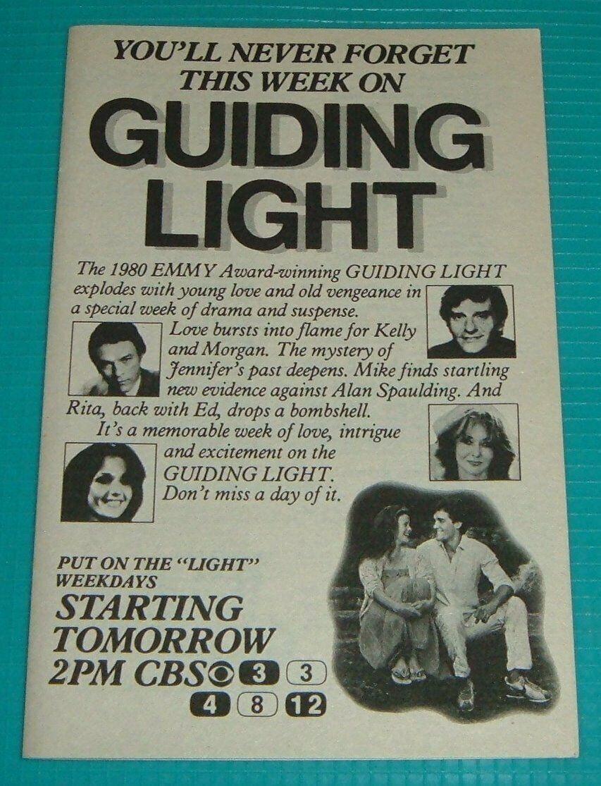 Image 1 - 1980 CBS TV AD~THE GUIDING LIGHT Emmy Award Winning Soap Opera Full Page 5 x 7