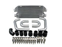 Twin Turbo Front Mount Intercooler Bolt On Kit For 90-96 300zx-black