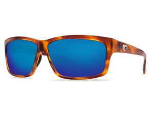c1331db0db NEW Costa Del Mar CUT Honey Tortoise   580 Blue Mirror Plastic 580P ...
