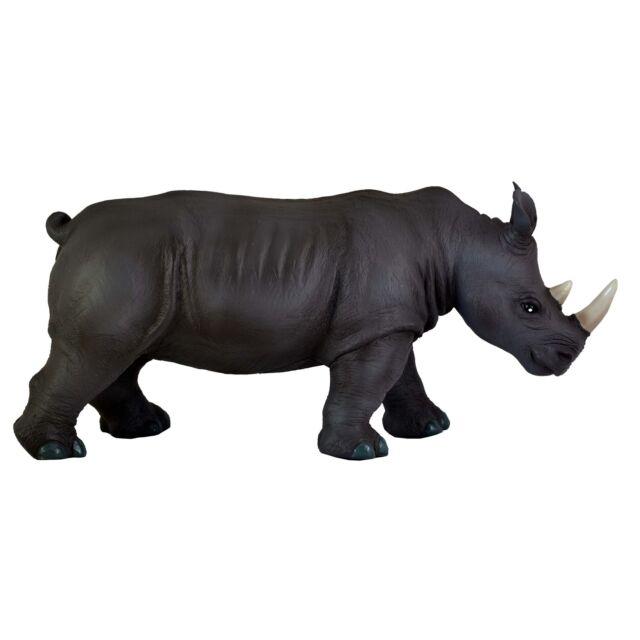 """Rhino Rhinoceros 15"""" (36cm) Soft Stuffed Rubber Play Toy Africa Safari  Muesum"""