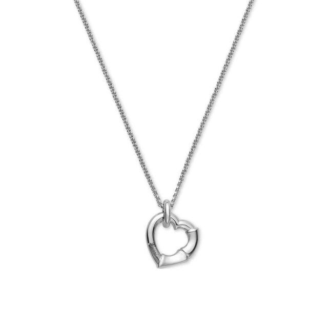 574fb5b1e New Gucci Women s Sterling Silver Heart Bamboo Pendant Necklace  YBB39339500100U