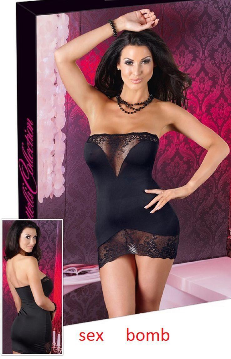 SEXY abito vestito black inserti in PIZZO taglia 40 42 44 46 fashion GLAMOUR