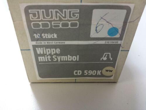 JUNG CD 590K ww Wippe Klingelsymbol CD590WW Klingeltaster reinweiß alpinweiß NEU