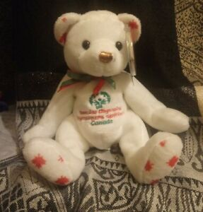 """Ty """"Originals"""" Beanie Babies- Courageousness Bronze Bear with Tag protector  63d"""