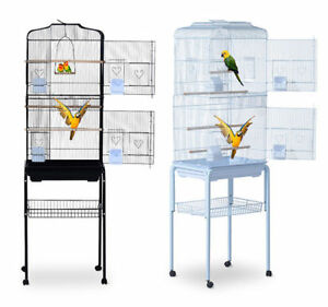 Bird-Cage-63-034-Large-Finch-Parrot-Conure-Metal-Wheels-Play-Top-House-Pet-Supplies