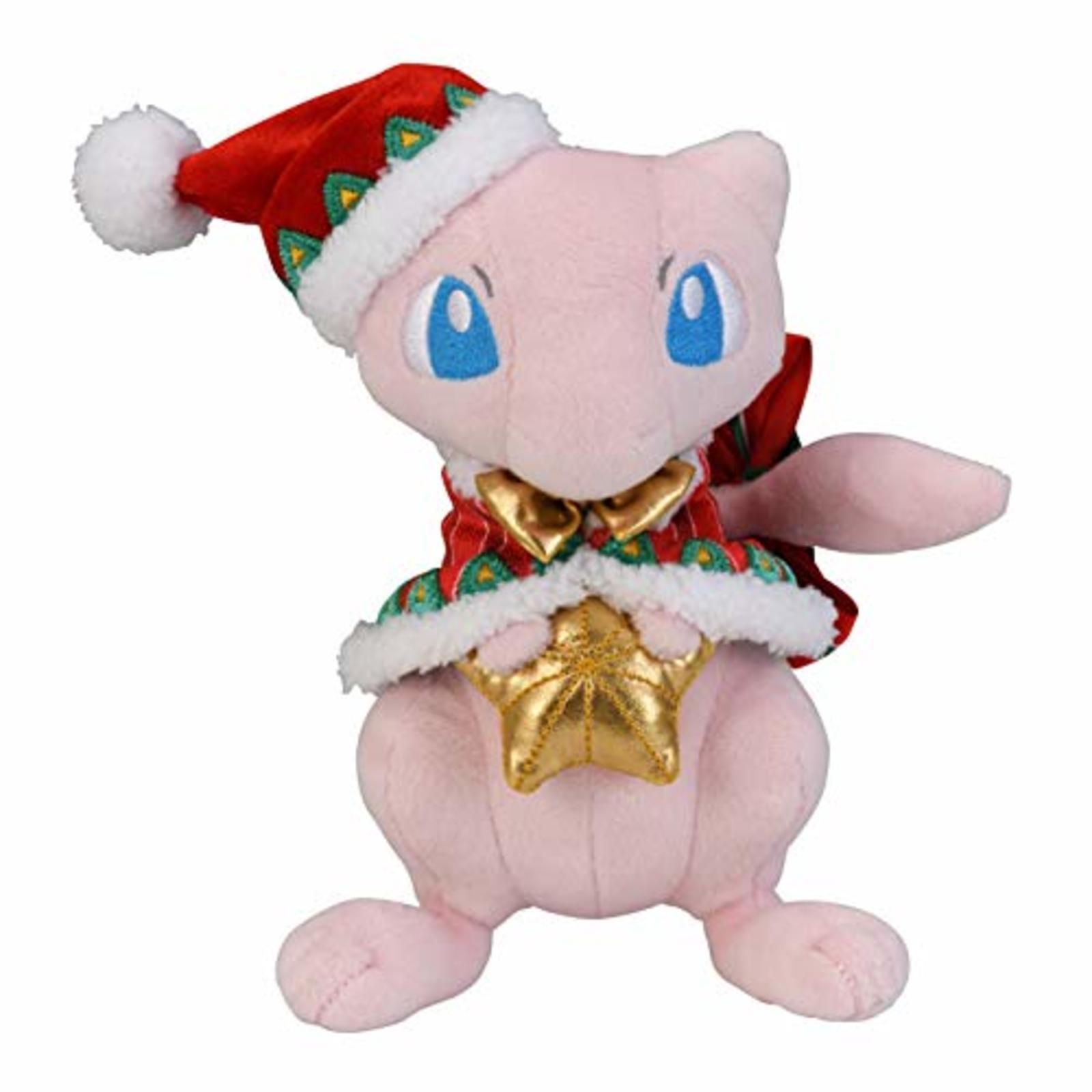 Pokemon Center Original Bambola di Peluche Natale 2018 Mew F S W