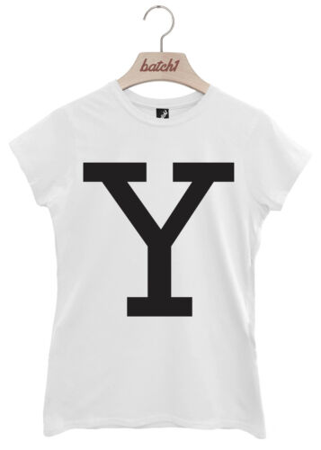 BATCH1 ALPHABET LARGE LETTER FASHION SLOGAN WOMENS T-SHIRT PERSONALISED LETTER Y