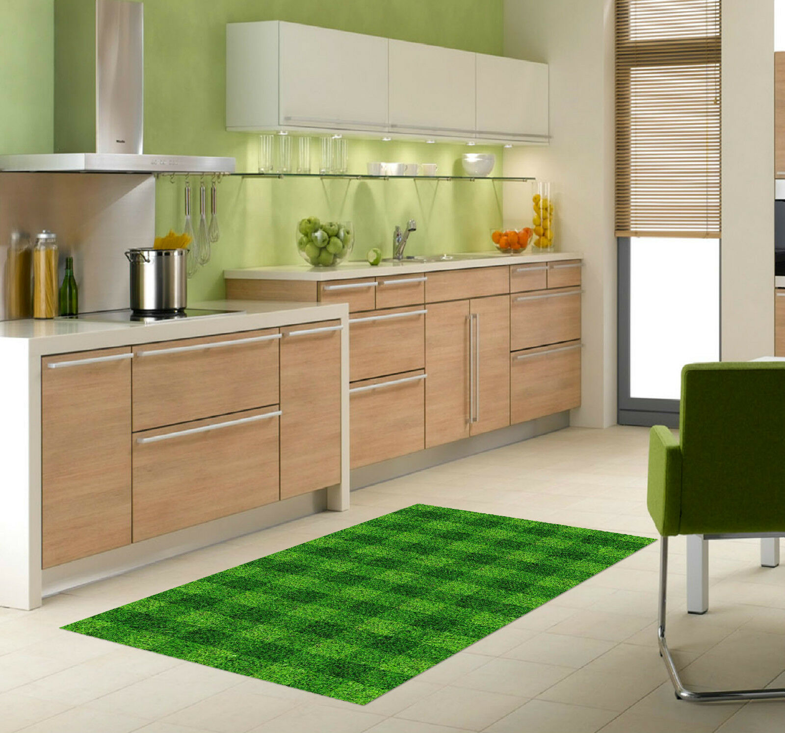 3D Grass Lattice Kitchen Mat Floor Murals Wall Print Wall Deco AJ WALLPAPER CA