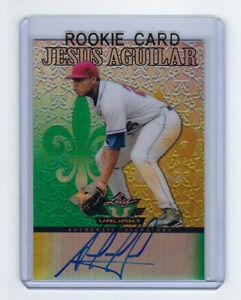 2012-RAYS-Jesus-Aguilar-signed-card-Leaf-VALIANT-AUTO-VA-JA1-AUTO-Autograph-RC