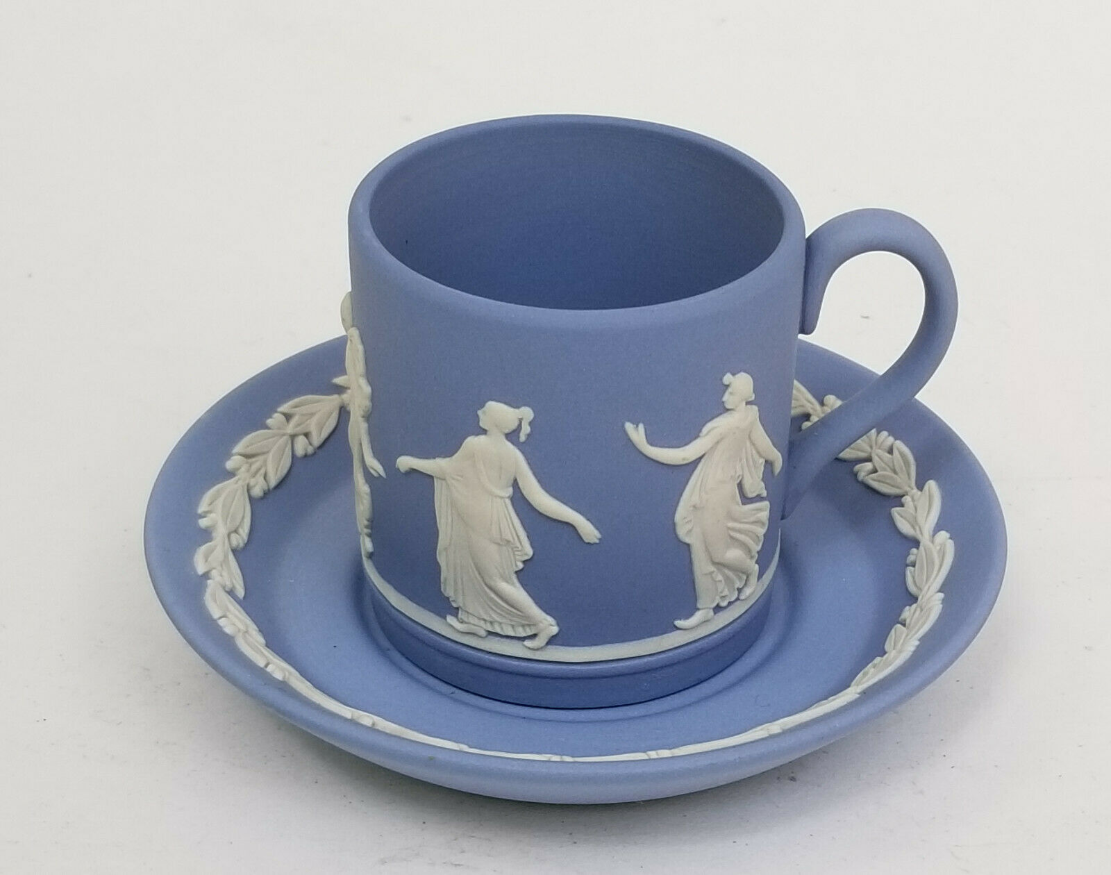 Antique Wedgwood Demitasse Cup /& Saucer Powder Blue