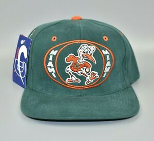 Miami-Hurricanes-NCAA-Vintage-90-039-s-Adjustable-Snapback-Cap-Hat-NWT