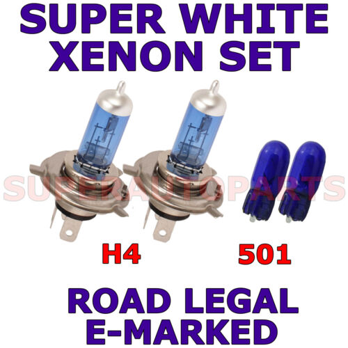 FITS SUBARU LEGACY 1995-1999   SET H4  501  XENON  SUPER WHITE LIGHT BULBS