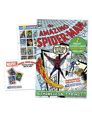 USPS New Marvel Comics Limited Edition Comic Book & Stamps Set