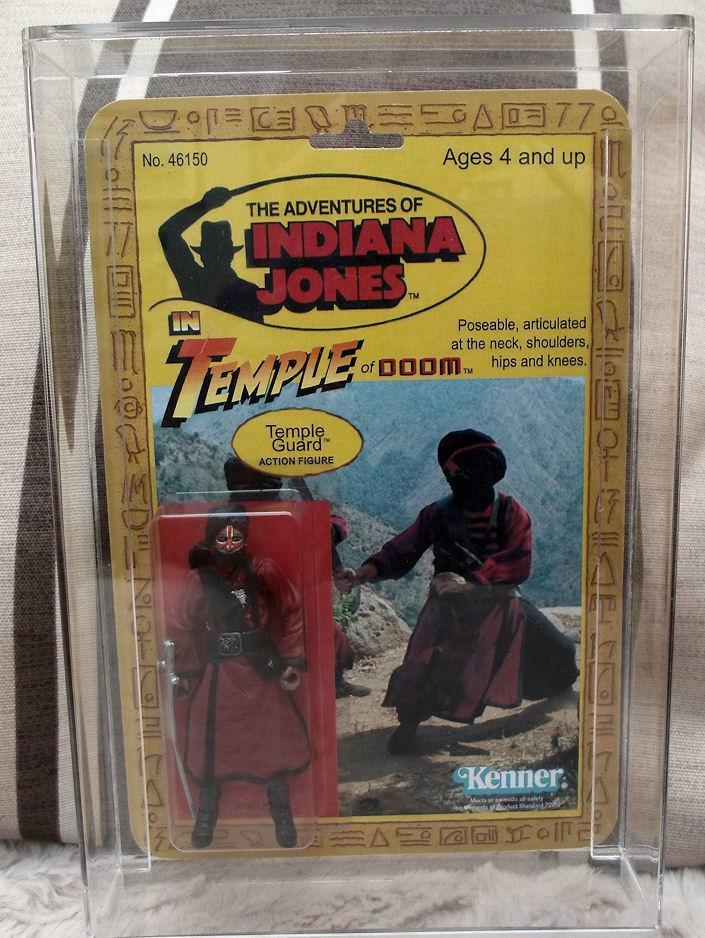 INDIANA JONES VINTAGE STYLE TEMPLE GUARD 2009 TEMPLE OF DOOM  PUNCHED
