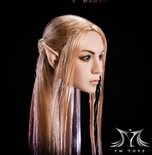 """EN STOCK 1//6 Fairy Female Head Sculpt amovible oreilles pâle pour PHICEN 12/"""""""