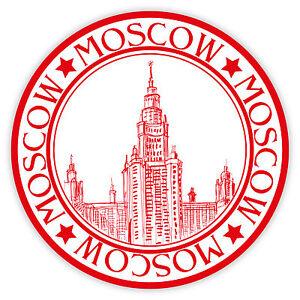 Mosca-Moscow-Moscou-Moskau-timbro-etichetta-sticker-12cm-x-12cm