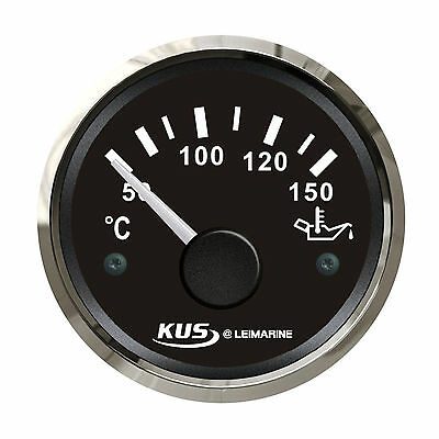KUS Oil Temp Gauge Temperature 50-150°C Electrical Car Truck Boat Marine12/24V