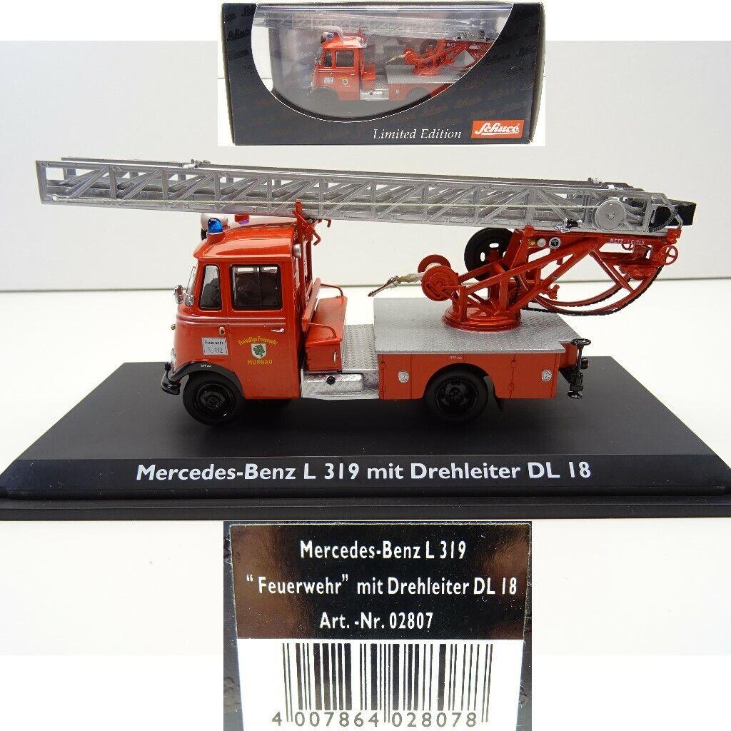 Schuco 02807 1:43 Mercedes-Benz l319 vigili del fuoco Murnau Capo Girevole dl18 c4011