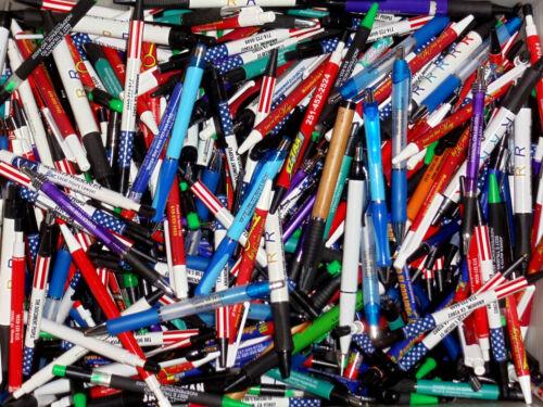 Wholesale Lot of 500 Misprint Ink Pens Ball Point Plastic Retractable Pens