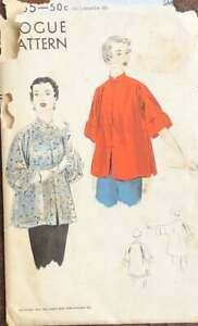 Vintage-50s-Vogue-7155-Misses-Coolie-Coat-Sewing-Pattern-Size-Medium-Bust-34-36