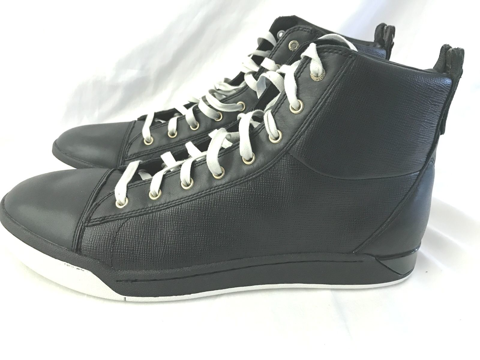 DIESEL TEMPUS DIAMON BLACK LEATHER MENS SIZE US 13M (EUR 47) SNEAKER